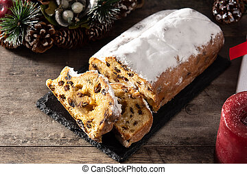 Christmas stollen fruit cake