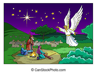 Christmas Story. Shepherds and the Angel. - The Angel visits...