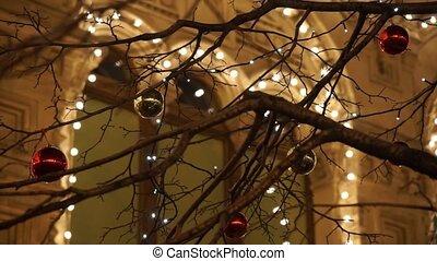 Christmas street lights decoration
