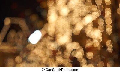 Christmas street lights decoration illuminated