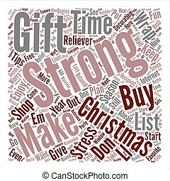 Christmas Stress Relief Simple Tips text background word cloud concept