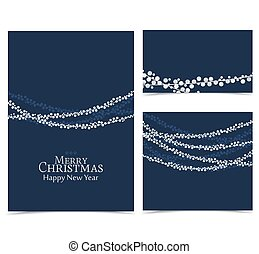Christmas string lights - Vector illustration Christmas...