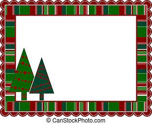 Christmas Stripped Frame