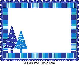 Christmas Stripped Frame - Christmas stripped patterned...
