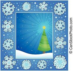 Christmas subject greeting card 1