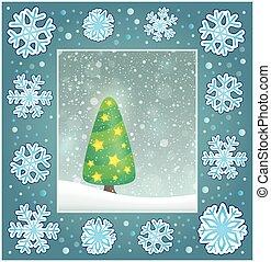 Christmas subject greeting card