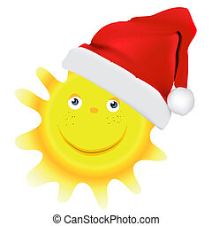 Christmas sun vector design