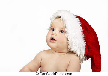 Christmas Surprises - Beautiful infant with blue eyes...