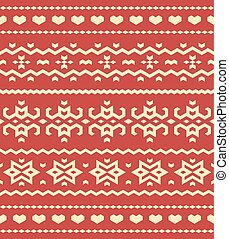 Christmas Sweater Pattern - Christmas sweater seamless...