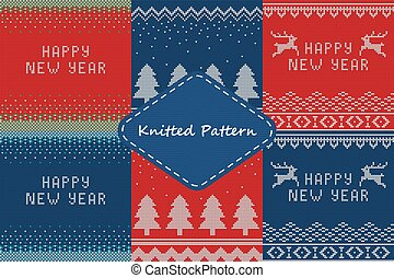 Christmas sweater Set4 - Vector Illustration of Ugly sweater...