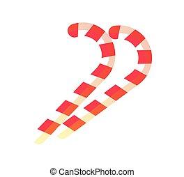 Christmas Sweet Candy Sticks Vector Illustration