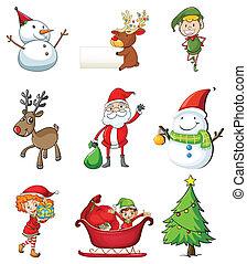 Christmas symbols - Illustration of the christmas symbols on...