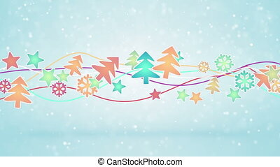 christmas symbols. computer generated seamless loop holiday motion background
