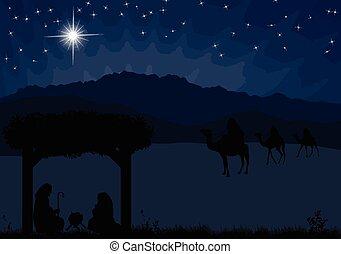 christmas táj, horoszkóp