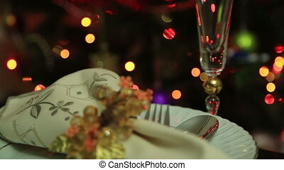 Christmas Table Setting Celebration