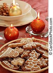 Christmas table setting