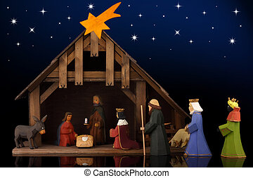 Christmas tale - The christmas tale with a nativity scene.