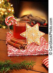 Christmas tea and cookie