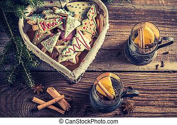 Christmas tea and gingerbread cookies