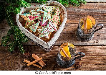 Christmas tea and gingerbread