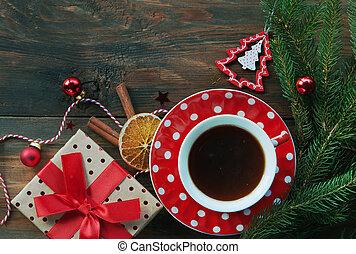 Christmas tea background
