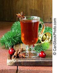 Christmas tea with cinnamon