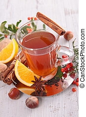 christmas tea with spices