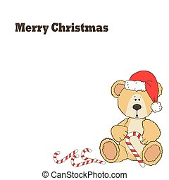 Christmas Teddy bear card