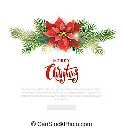 Christmas template for email list with Poinsettia -...