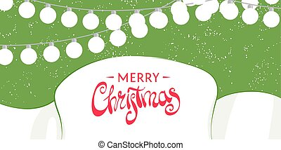 Christmas template for greeting card