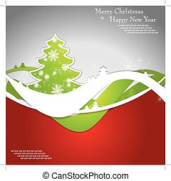Christmas template frame design for greeting card.