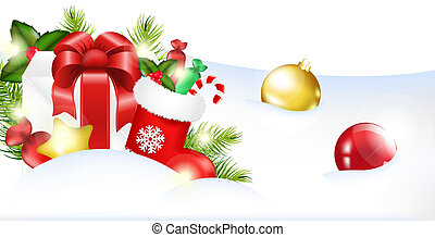 Christmas Template, Vector Illustration