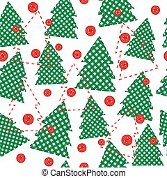 Christmas template wrapping paper in patchwork style