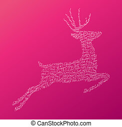 Christmas text jumping reindeer composition EPS10 file.