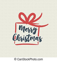 Christmas text quote calligraphy gift illustration