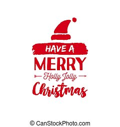 Christmas text quote lettering card illustration