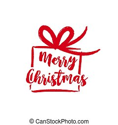 Christmas text quote lettering gift illustration