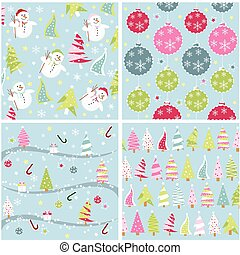 christmas texture, seamless patterns with fabric texture