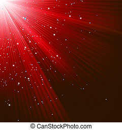 Christmas texture with stars and rays. EPS 8