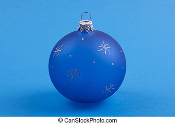 Christmas the ball on a blue background