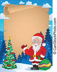 Christmas thematic parchment 1