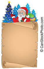 Christmas thematic parchment 4 - eps10 vector illustration.