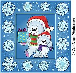 Christmas thematics greeting card 1