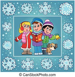 Christmas thematics greeting card 9