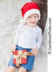 christmas theme at the beach