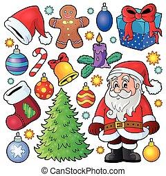 Christmas theme collection 1 - eps10 vector illustration.