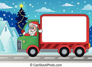 Christmas theme delivery car image 4