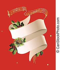 Christmas theme - Christmas concert poster or invitation...