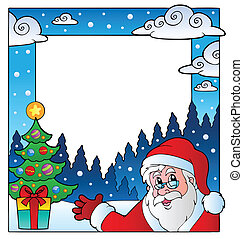 Christmas theme frame 1