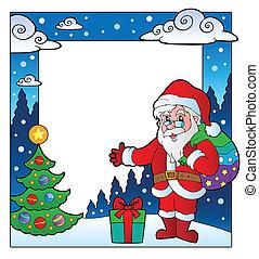 Christmas theme frame 2